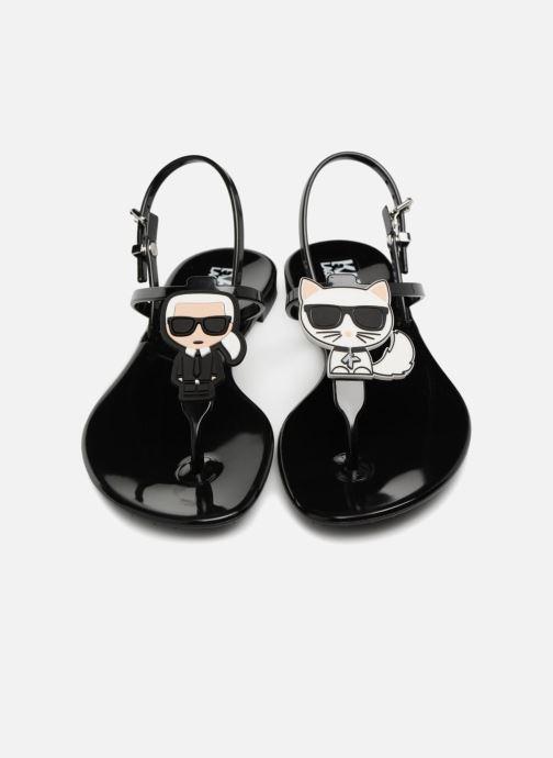 Sandales et nu-pieds Karl Lagerfeld JELLY Karl Ikonic Sling Noir vue 3/4