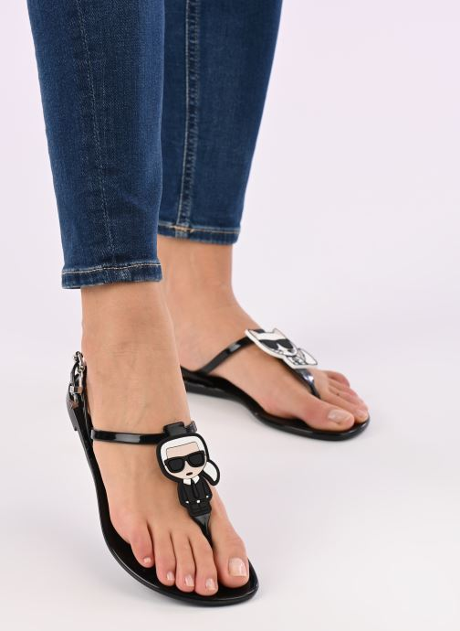 Sandales et nu-pieds Karl Lagerfeld JELLY Karl Ikonic Sling Noir vue bas / vue portée sac