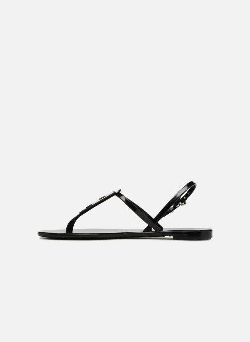 Sandales et nu-pieds Karl Lagerfeld JELLY Karl Ikonic Sling Noir vue face