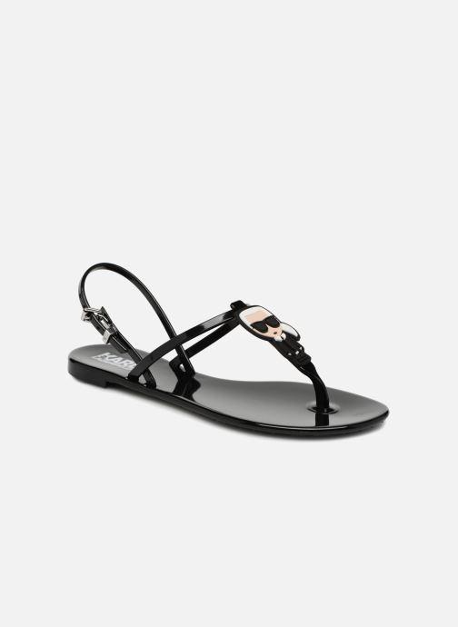 Sandales et nu-pieds Karl Lagerfeld JELLY Karl Ikonic Sling Noir vue détail/paire