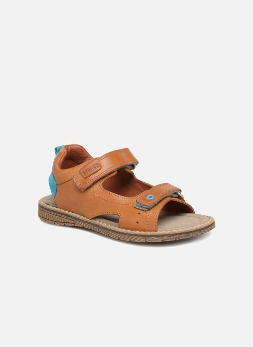 Sandals Stones and Bones Daspo Brown detailed view/ Pair view