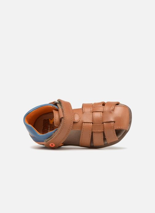 Sandales et nu-pieds Stones and Bones Maro Marron vue gauche