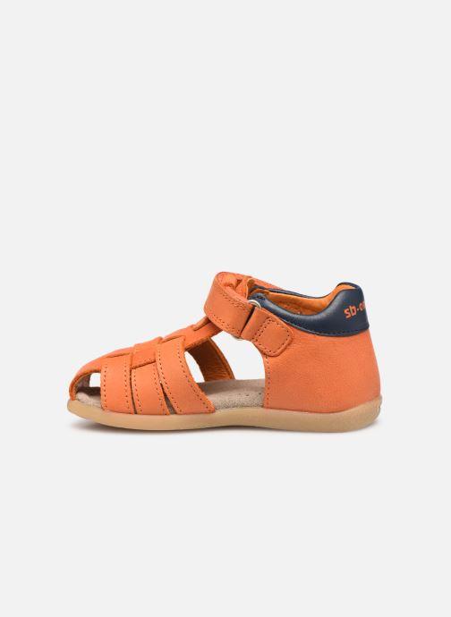 Sandalias Stones and Bones Maro Naranja vista de frente