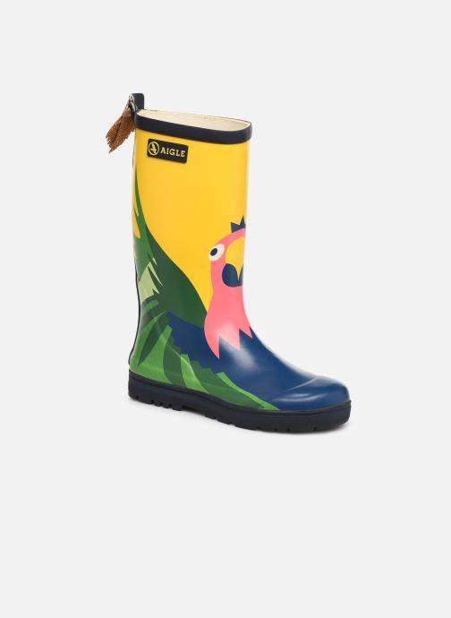 Støvler & gummistøvler Aigle Woody Pop Fun Gul detaljeret billede af skoene