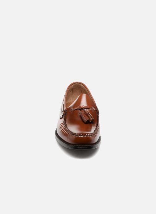 Mocassins G.H. Bass WEEJUN Larkin Moc Tassel Marron vue portées chaussures