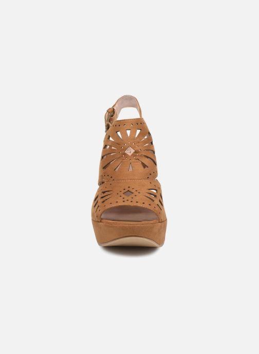 Sandales et nu-pieds Chattawak LISERON Marron vue portées chaussures