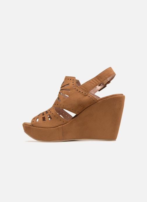 Sandales et nu-pieds Chattawak LISERON Marron vue face