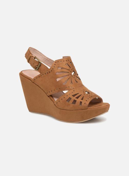 Sandales et nu-pieds Chattawak LISERON Marron vue détail/paire