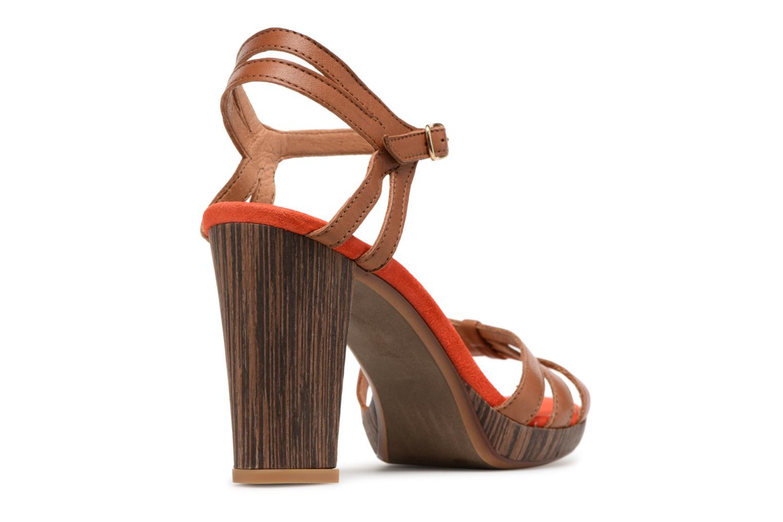 Sandales et nu-pieds Made by SARENZA Carioca Crew Sandales à Talons #7 Marron vue face