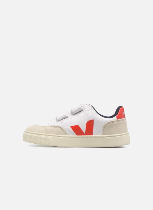 Trainers Veja V-12 Small Velcro White front view