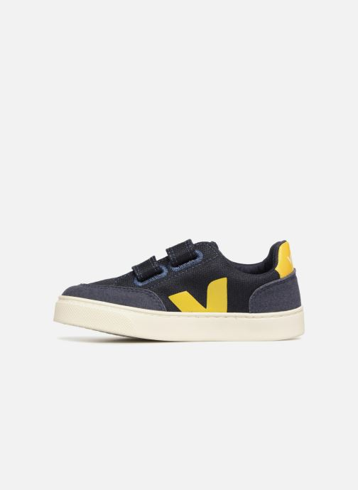 Trainers Veja V-12 Small Velcro Blue front view