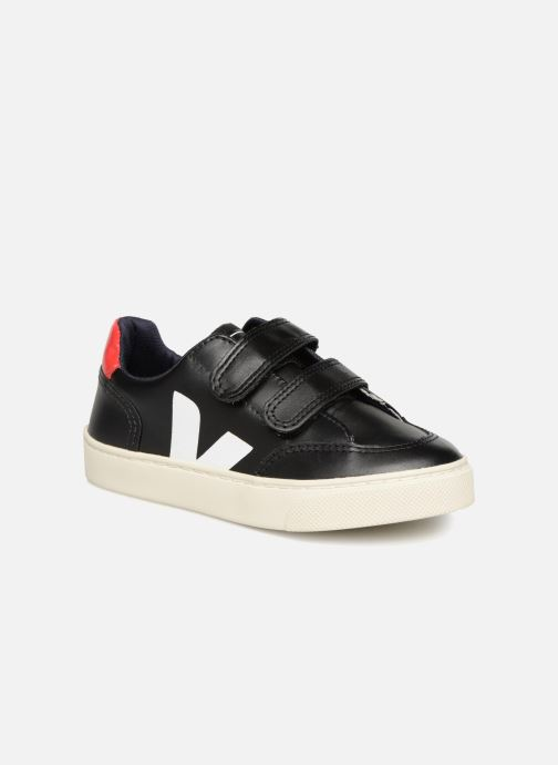 Trainers Veja V-12 Small Velcro Black detailed view/ Pair view