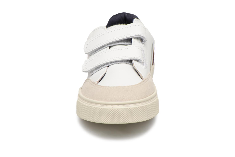 Baskets Veja V-12 Small Velcro Blanc vue portées chaussures