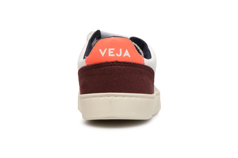 Baskets Veja V-12 Small Velcro Blanc vue droite