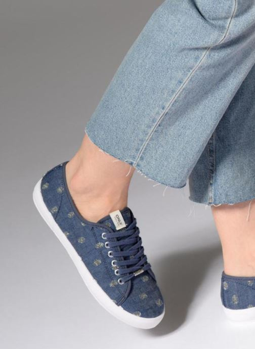 Trainers ONLY SAPHIR Blue view from underneath / model view