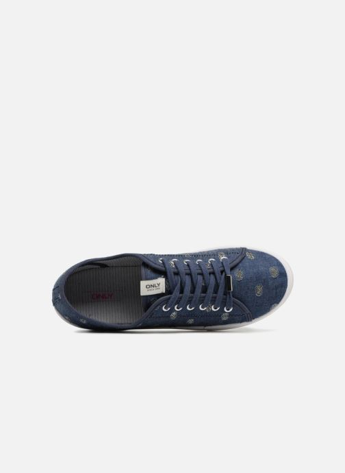 Trainers ONLY SAPHIR Blue view from the left