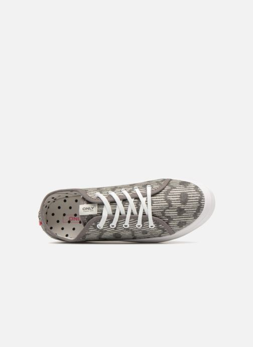 Sneakers ONLY SARINA AOP SNEAKER Grigio immagine sinistra