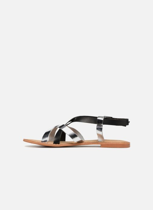 Sandalen Vero Moda Mary leather sandal Zwart voorkant