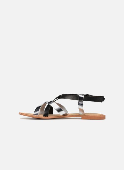 Sandalen Vero Moda Mary leather sandal Zwart voorkant