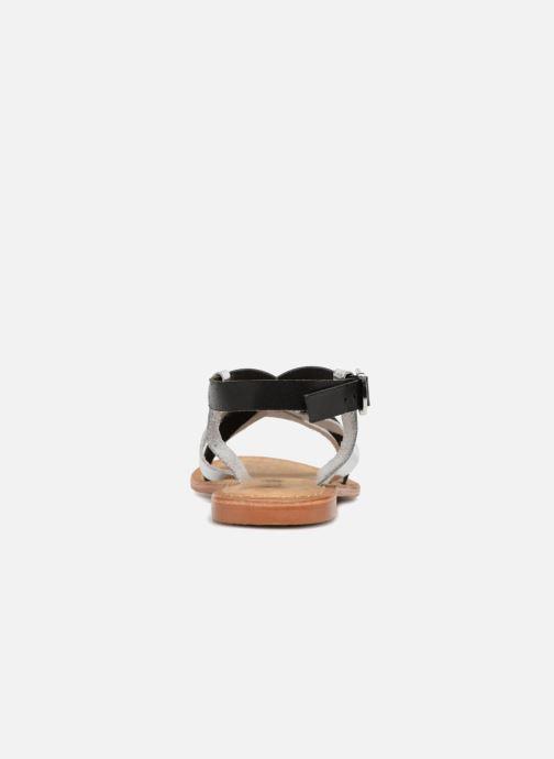 Sandalen Vero Moda Mary leather sandal Zwart rechts