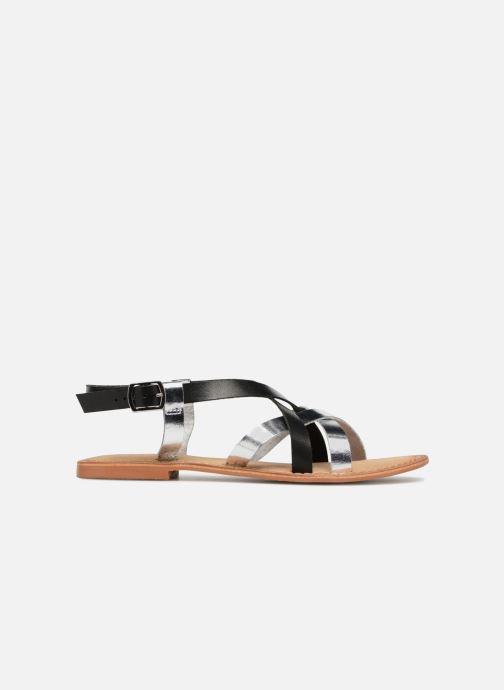 Sandalen Vero Moda Mary leather sandal Zwart achterkant