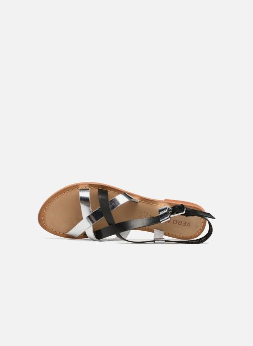 Sandalen Vero Moda Mary leather sandal Zwart links