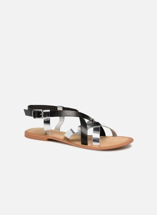 Sandalen Vero Moda Mary leather sandal Zwart detail