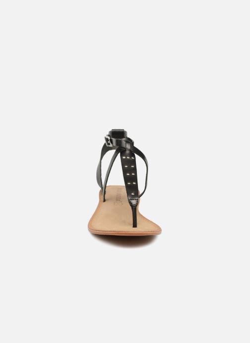 Sandales et nu-pieds Vero Moda Isabel leather sandal Noir vue portées chaussures