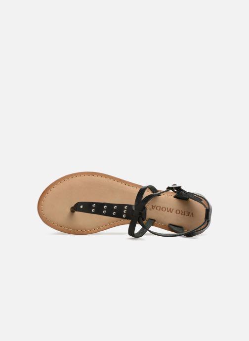 Sandales et nu-pieds Vero Moda Isabel leather sandal Noir vue gauche