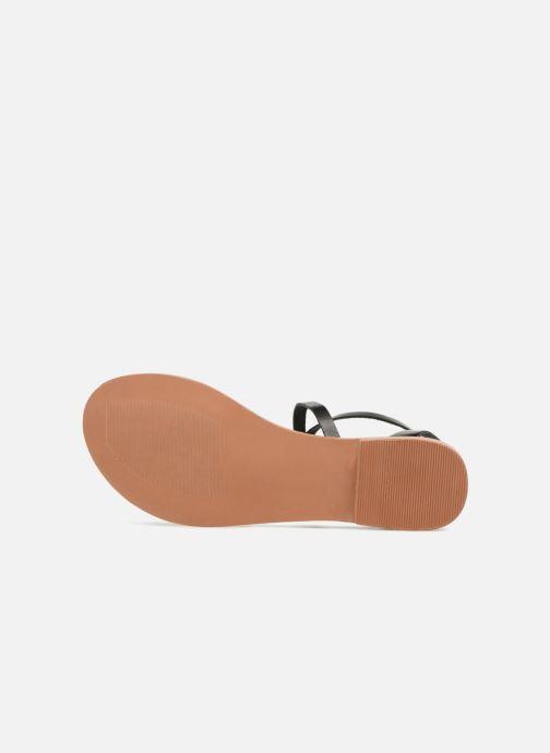 Sandales et nu-pieds Vero Moda Isabel leather sandal Noir vue haut