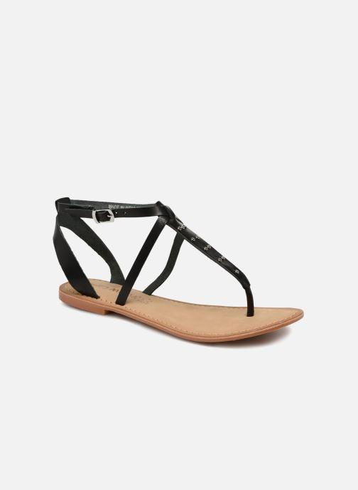 Sandales et nu-pieds Vero Moda Isabel leather sandal Noir vue détail/paire