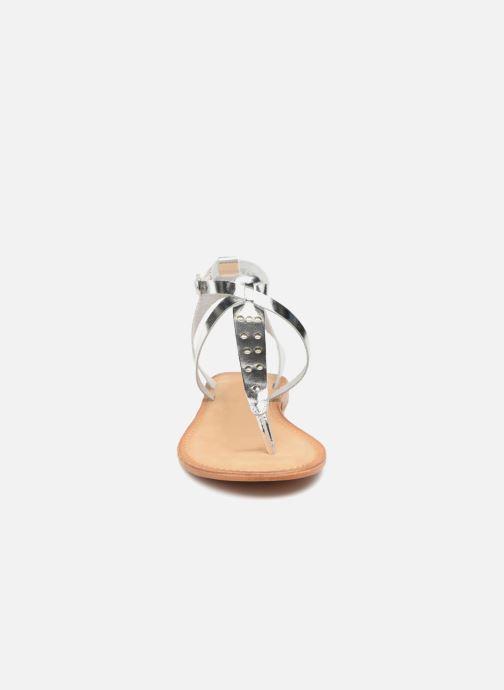 Sandales et nu-pieds Vero Moda Isabel leather sandal Argent vue portées chaussures