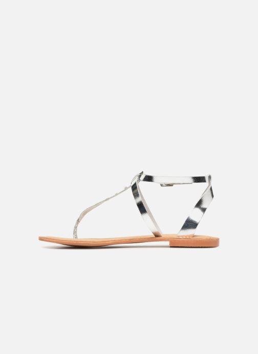 Sandalen Vero Moda Isabel leather sandal Zilver voorkant