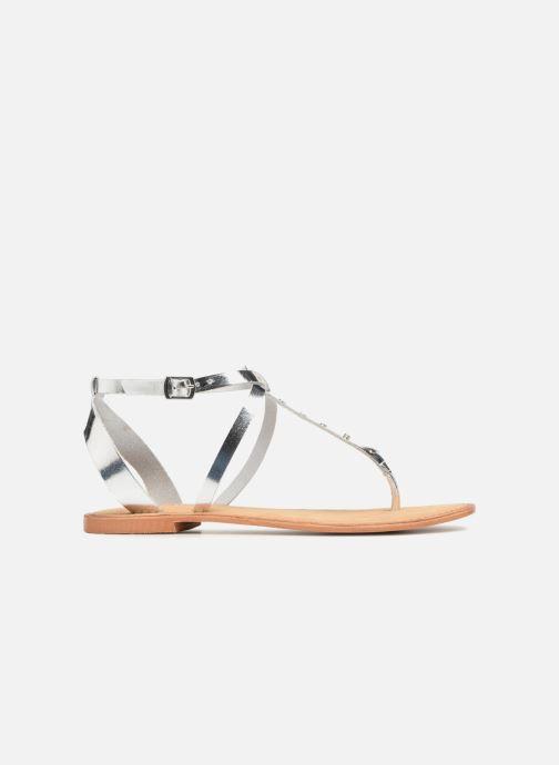 Sandalen Vero Moda Isabel leather sandal Zilver achterkant