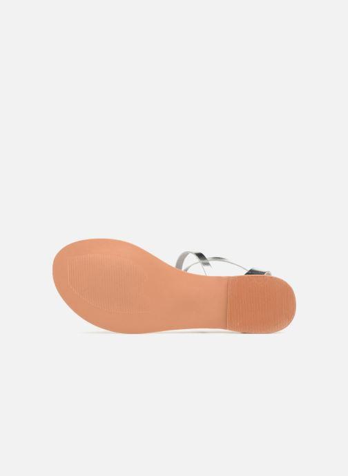 Sandales et nu-pieds Vero Moda Isabel leather sandal Argent vue haut