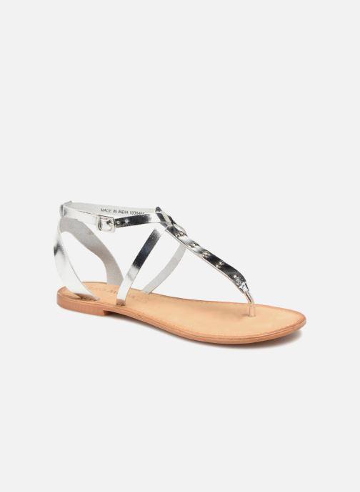 Sandalen Vero Moda Isabel leather sandal Zilver detail
