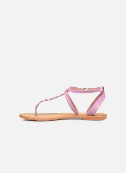 Sandals Vero Moda Isabel leather sandal Purple front view