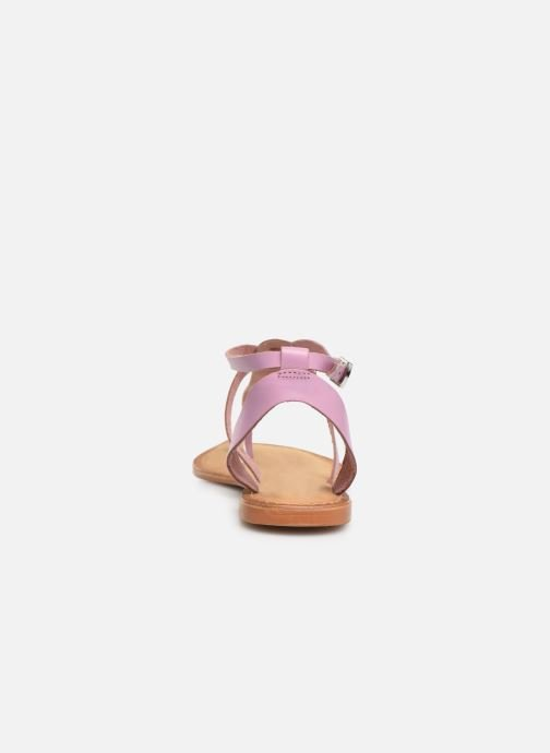 Sandals Vero Moda Isabel leather sandal Purple view from the right