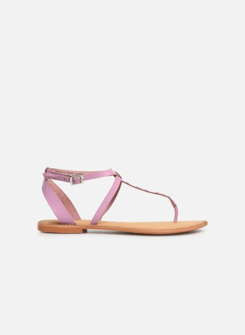 Sandales et nu-pieds Vero Moda Isabel leather sandal Violet vue derrière