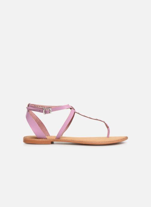 Sandals Vero Moda Isabel leather sandal Purple back view