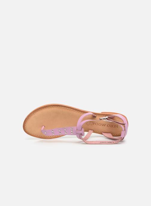 Sandalen Vero Moda Isabel leather sandal lila ansicht von links