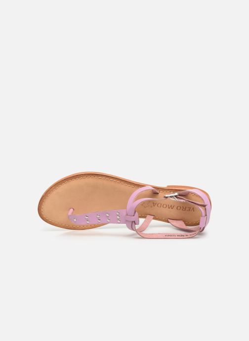Sandalen Vero Moda Isabel leather sandal lila ansicht von links