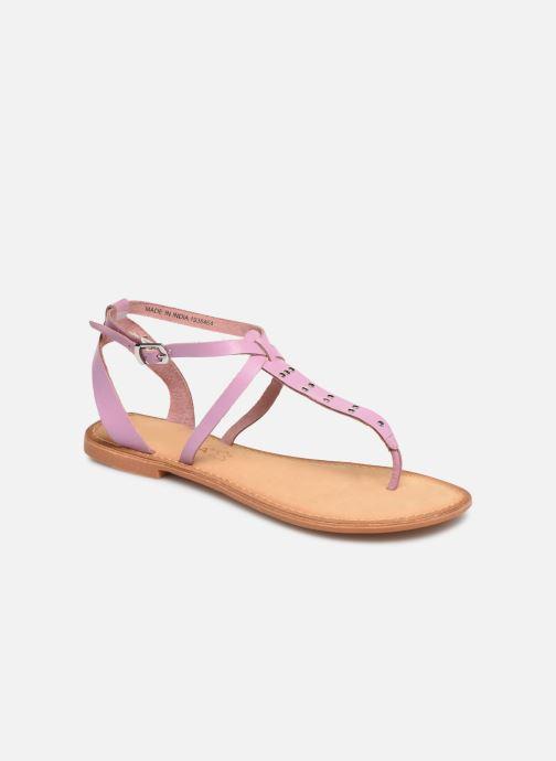 Sandals Vero Moda Isabel leather sandal Purple detailed view/ Pair view