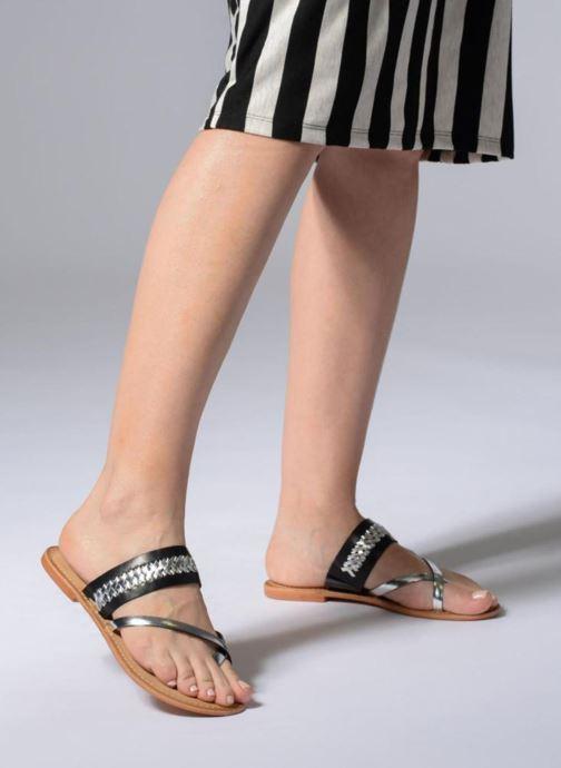 Sandalen Vero Moda Timo leather sandal Zwart onder
