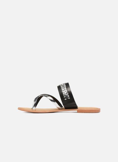 Sandalen Vero Moda Timo leather sandal Zwart voorkant