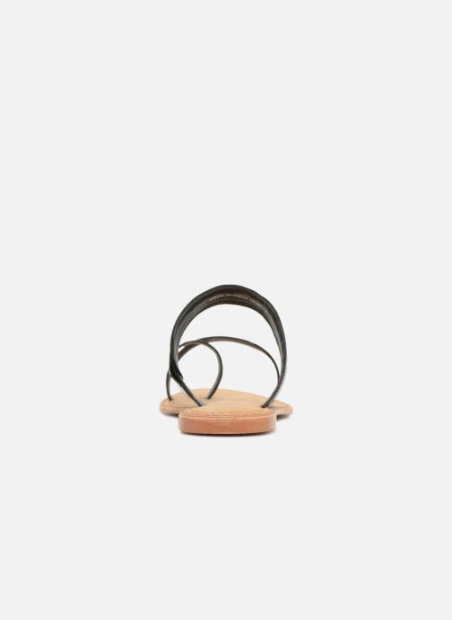 Sandalen Vero Moda Timo leather sandal Zwart rechts