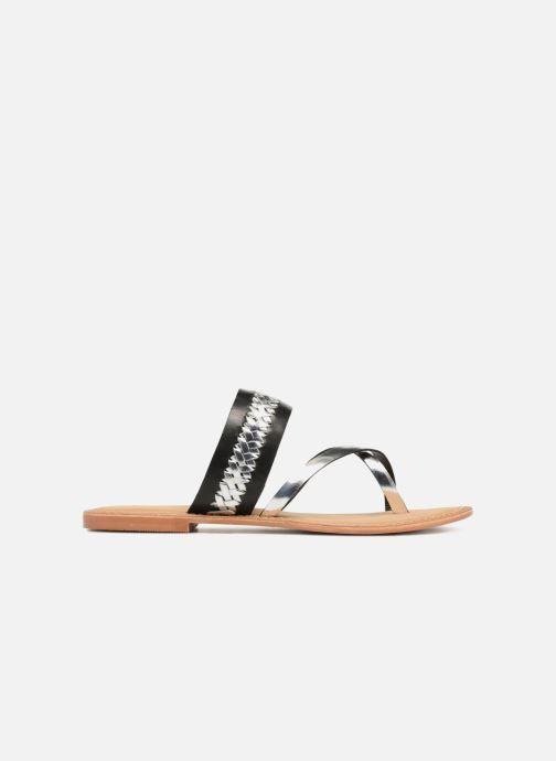 Sandalen Vero Moda Timo leather sandal Zwart achterkant