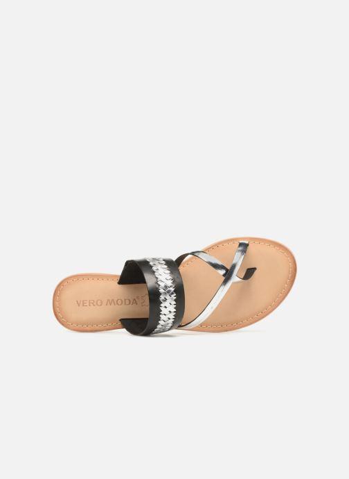 Sandalen Vero Moda Timo leather sandal Zwart links
