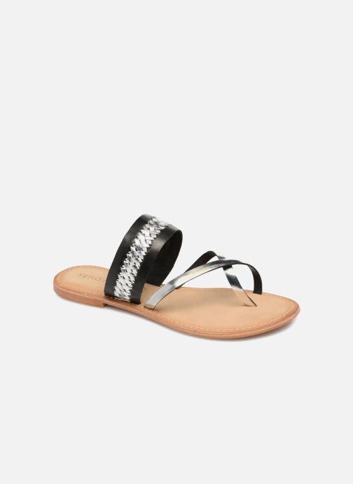 Sandalen Vero Moda Timo leather sandal Zwart detail