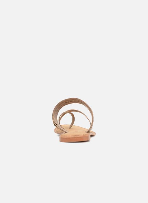 Sandals Vero Moda Timo leather sandal Brown view from the right